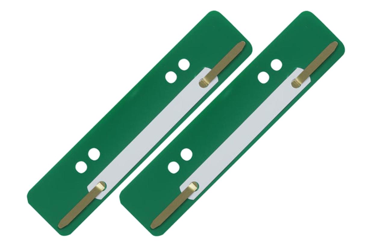 100 Stück Aktendulli Kösterstreifen Heftstreifen kurz 3,5x15 cm DIN A4+A5 grün